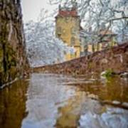 Frozen Moat At Fonthill Poster