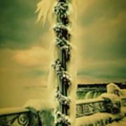 Frozen Over Niagara Falls Poster
