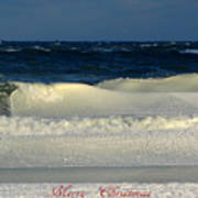 Frozen Waves Christmas Card Poster