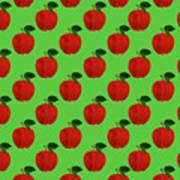 Fruit 02_apple_pattern Poster