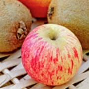 Fruit Basket. Apple. Poster