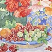 Fruit On A Plate Poster