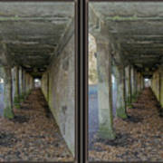 Ft. Howard Pk- Tunnel Effect - 3d Stereo X-view Poster