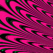 Fuchsia Peacock Feathers Fractal Poster