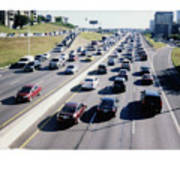Fujifilm Instax Instant-film Picture Of Ih-35 Rush Hour Traffic  Poster