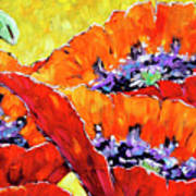 Full Bloom Poppies By Prankearts Fine Art Poster
