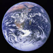 Full Earth Poster by Stocktrek Images