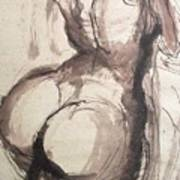 Full Figure - Sketch Of A Female Nude Poster