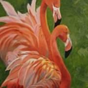 Fun Flamingos Poster