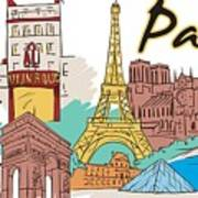 Fun Food And Folly In Paris Poster
