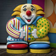 Fun House Clown Point Pleasant Nj Boardwalk Poster