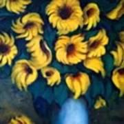 Fun Sun Flowers Poster