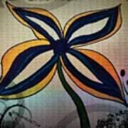 Funky Flower Poster
