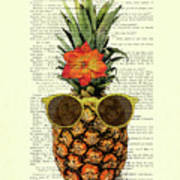 Funny And Cute Pineapple Art Poster