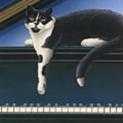 Fur Neil - Cat On Piano Poster