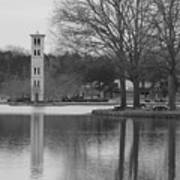 Furman Bell Tower 3 Bw Poster