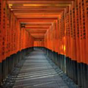 Fushimi Inari Taisha Shrine In Kyoto, Japan Poster