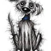 Fuzzy Dog Poster