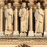 Galerie Des Rois Catherdrale Notre Dame De Paris France Poster