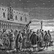 Galileo Demonstrates Telescope, 1609 Poster