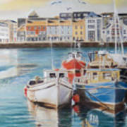Galway Harbour Poster by Vanda Luddy