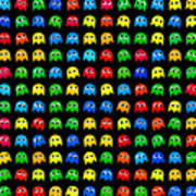 Game Monsters Seamless Generated Pattern Poster