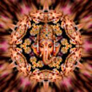 Ganesh Sphere Mandala Poster