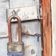 Garage Lock Number One Poster