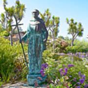 Garden At Carmel Mission-california Poster