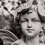 Garden Fairy - Sepia Poster