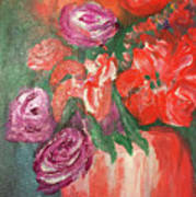 Garden Flowers In Vase 1 Poster
