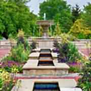 Garden Fountain Poster