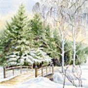 Garden Landscape Winter Poster