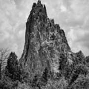 Garden Of The Gods Monotone Poster
