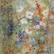 Garden Of White Flowers Poster
