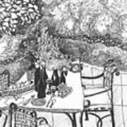 Garden Table Poster