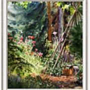 Garden View Window Poster