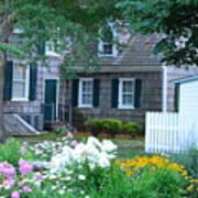 Gardens At The Burton-ingram House - Lewes Delaware Poster