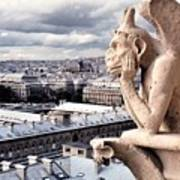 Gargoyle Of Notre Dame Poster
