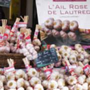 Garlic At A French Market Poster