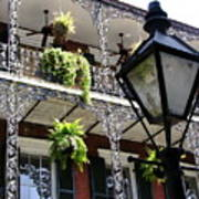 Gas Lamp And Balcony Poster