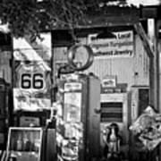 Gas Station On Route 66 Poster