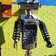 Gas Station Robot Poster