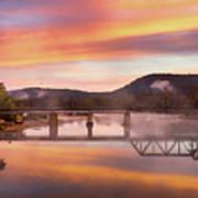 Gasconade River Sunrise Poster