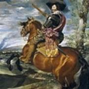 Gaspar De Guzmn Conde-duque De Olivares A Caballo Diego Rodriguez De Silva Y Velazquez Poster