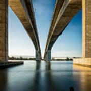 Gateway Bridge Brisbane Colour Poster