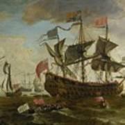 Gathering Of English Ships Poster