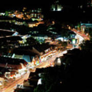 Gatlinburg, Tennessee At Night From The Space Needle Poster
