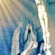 Gaudi Crucifixion Poster