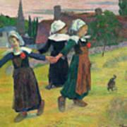 Gauguin: Breton Girls, 1888 Poster
